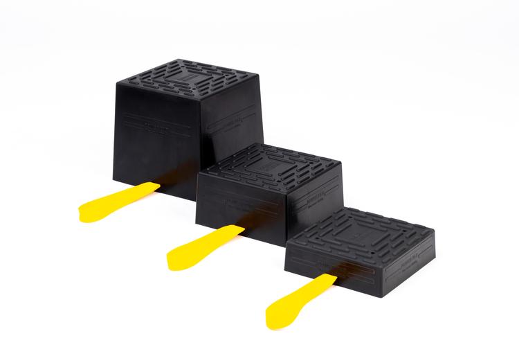 Power Pad polyuretan Universal lyftpad truckar | ståstaplare | Gaffeltruckblock