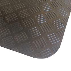 Durk Step Arbetsmatta med durkmönster svart 140x100x0,7cm