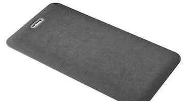 Arbetsmatta Kontor Step ergonomisk ståmatta med Handtag Gråsvart