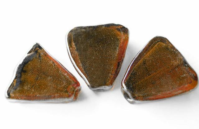Silverfoil - Trekant - Brun koppar mocca - 2st