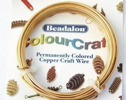 Colour Craft - Koppartråd - Guld - 18gauge