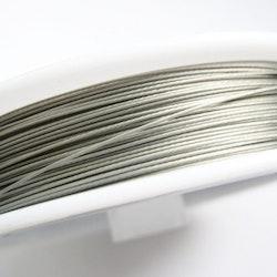 Plastad - Wire - 0,38mm - Silver stålgrå - 100m