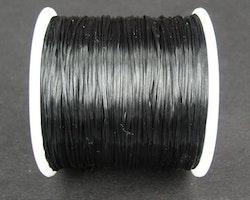 Elastisk tråd - Flat - Svart - 2m