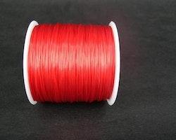 Elastisk tråd - Flat - Röd - 1st rulle 70m