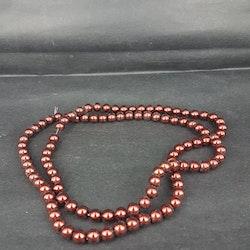 Romarpärlor - Vaxade Glaspärlor - Mörkröd - Ca 4mm -20st