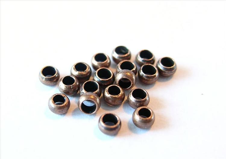 Klämpärlor 2mm #1 Koppar Hel förpackning 125gr ca 15000+