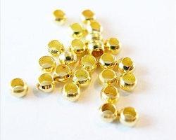 Klämpärlor 2mm #1 Guld 100st