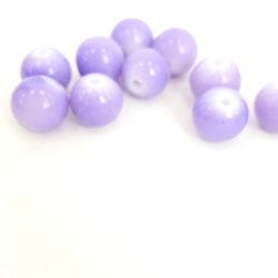 Porslinspärlor - Lila - 10st - 10mm