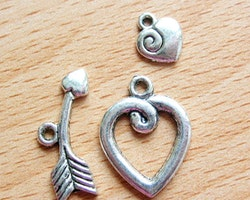 Toggle lås i tibet silver 3 delat