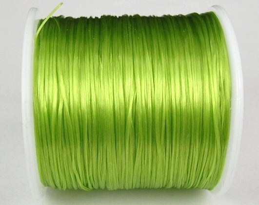 Elastisk Tråd - Flat - Lime - 2m