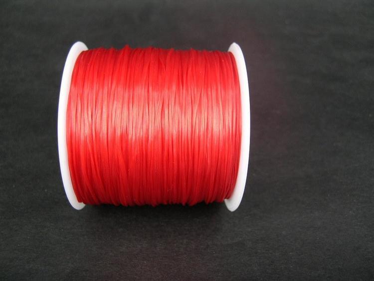 Elastisk tråd - Flat - Röd - 2m