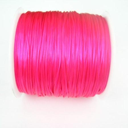 Elastisk Tråd - Flat - Mörkrosa - 2m