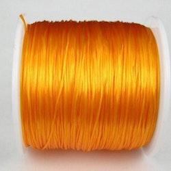 Elastisk tråd - Flat - Orange - 2m