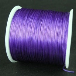 Elastisk tråd - Flat - Mattlila - 2m