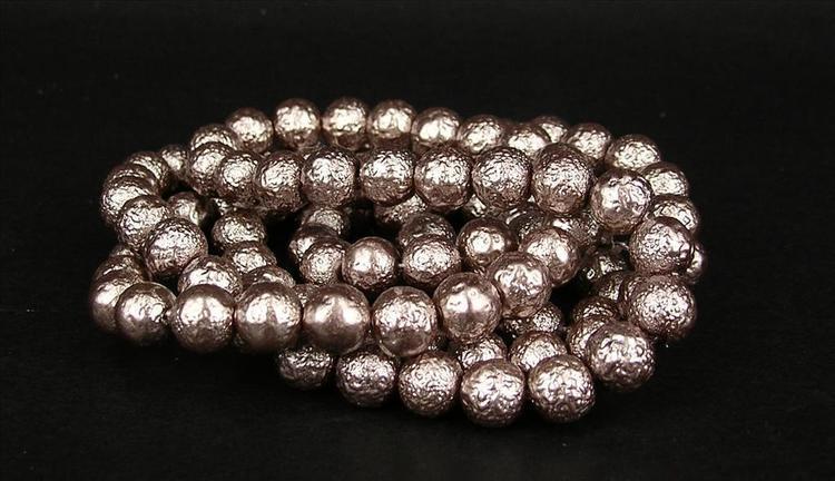 Strukturpärlor - Ispärlor - Glaspärlor - Ljuslila - 1sträng