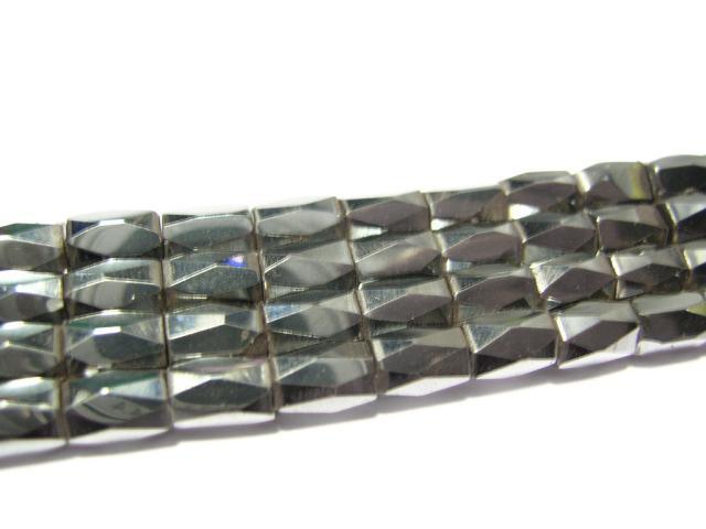 Magnetisk Hematit Facetterad hexagon svart - 50st
