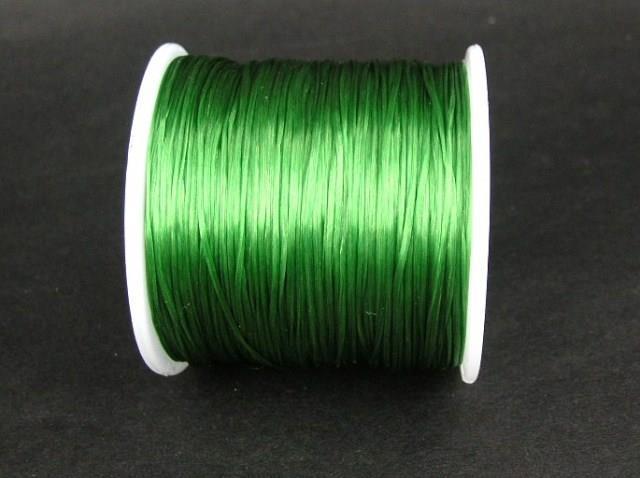 Elastiskt tråd - Flat - Mörkgrön - 2m