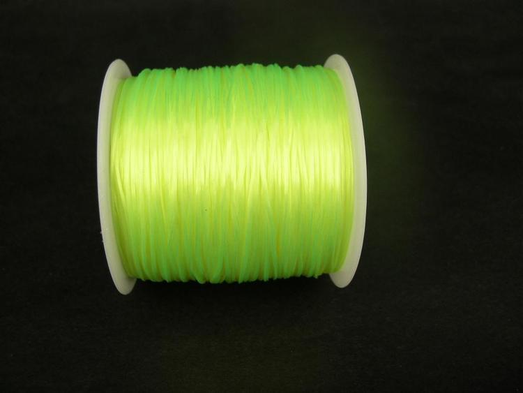 Elastisk tråd - Flat - Neongul - 2m