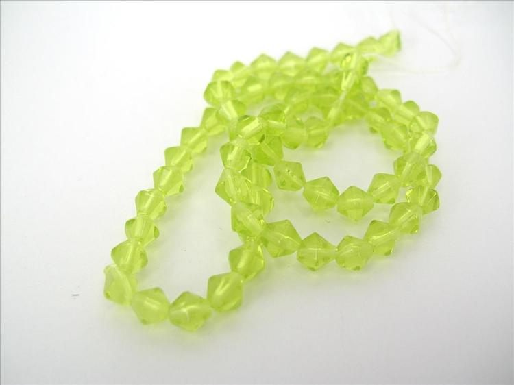 Bicone - Glas - Lime yellow