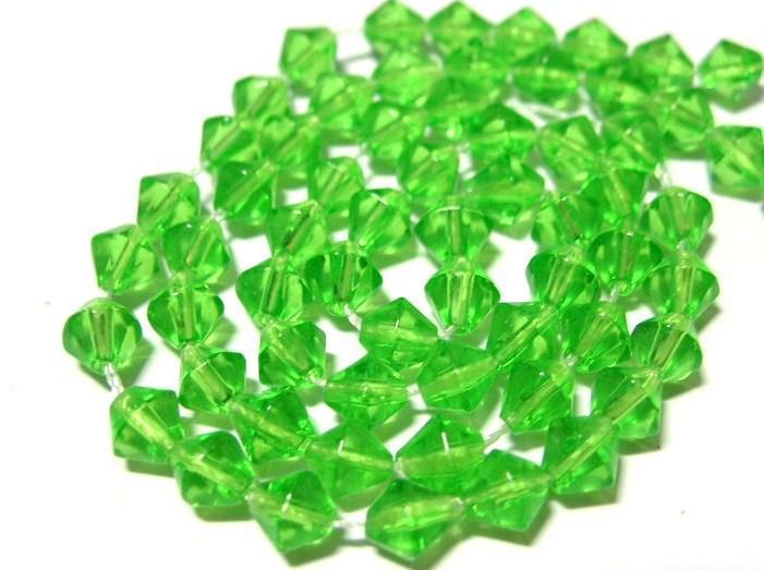 Bicone - Glas - Peridot