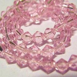 Bicone - Glas - Light Rose