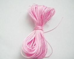 Pärltråd nylon rosa 10m