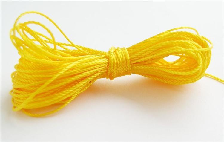 Pärltråd nylon - Gul - 10m