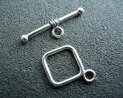 Toggle lås 2 delat enkel modell 2 kompletta lås Silver