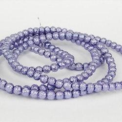 Strukturpärlor - Ispärlor - Glaspärlor - Lila - 1sträng