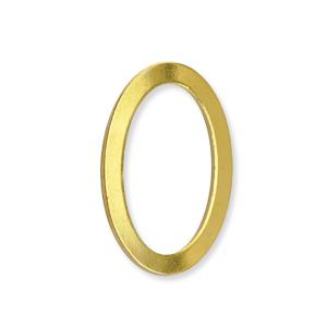 Solid Rings Länkar oval 12*18mm Guldpläterade 4st  BEADALON