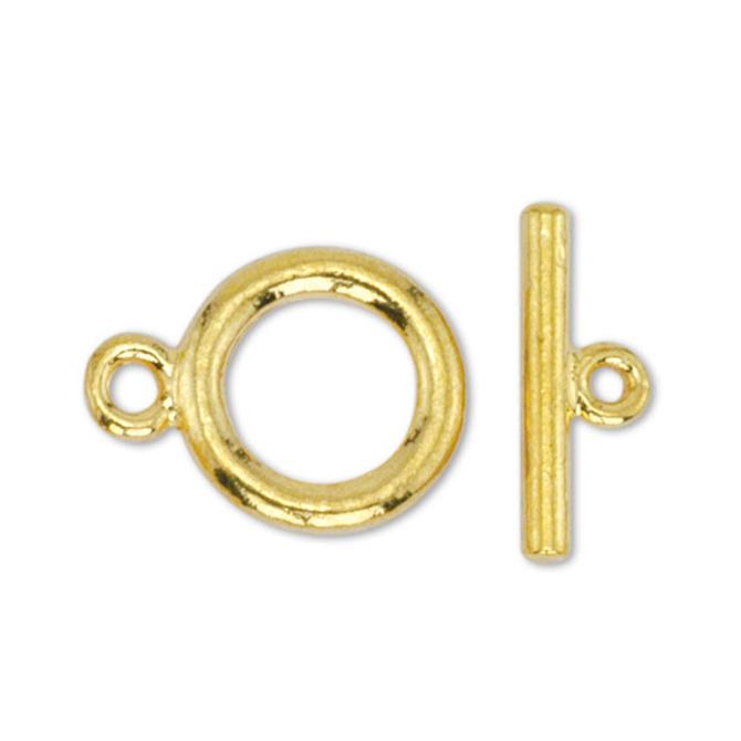 Toggle lås 2 delat enkel modell 2 kompletta lås Guld