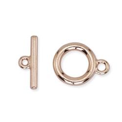 Toggle lås 2 delat enkel modell 2 kompletta lås koppar