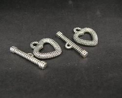 Toggle lås 2 delat hjärta modell 10st