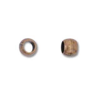 Klämpärlor koppar 2mm #1 1,5gram ca100st
