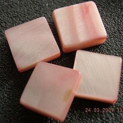 Snäckskalspärlor - Kvadrat - Rosa - 10st