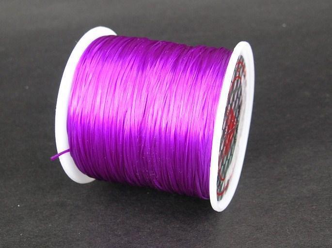 Elastisk tråd - Flat - Blanklila - 2m