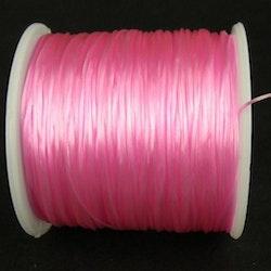 Elastisk tråd - Flat - Rosa - 2m