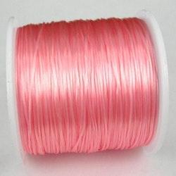 Elastisk tråd - Flat - Ljusrosa - 2m