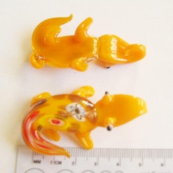Lampwork - Hänge - Croc - Orange - 1st
