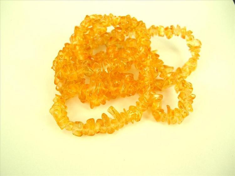 Glaspärlor - Glaschips - Guld - 50st