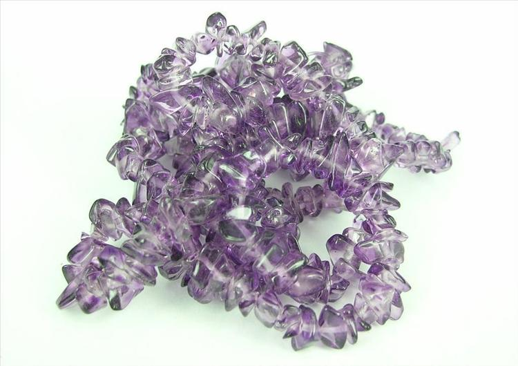 Glaspärlor - Glaschips - Lila - 50st