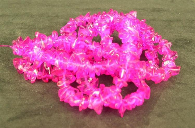 Glaspärlor - Glaschips - Rosa - 50st