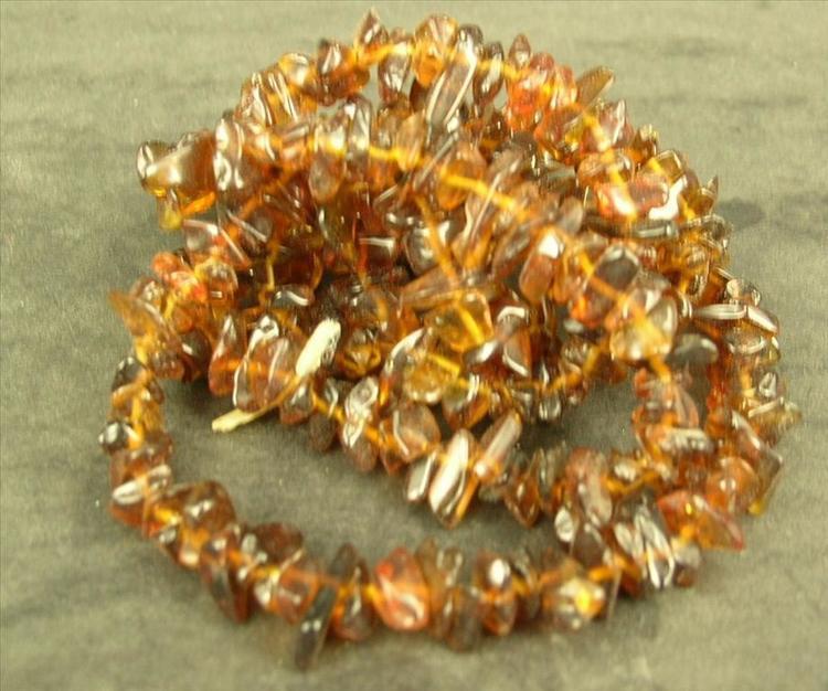Glaspärlor - Glaschips - Brun - 50st