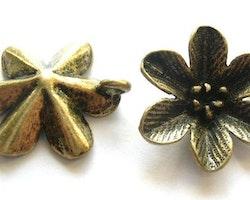 Blomma hänge stor i zink alloy - 1st