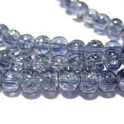 Glaspärlor - Crackle beads - Grå - 20st