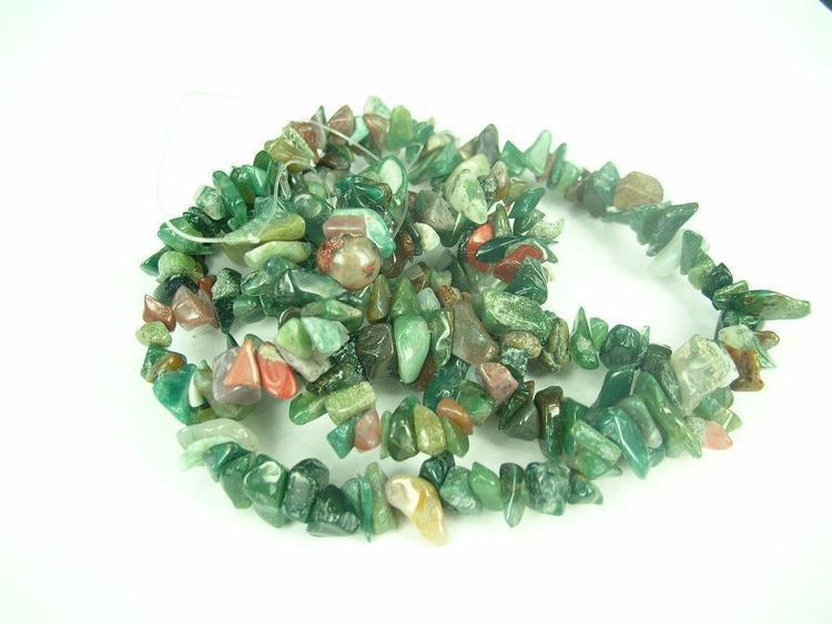 Ädelstenschips - Mix Grön - 50st