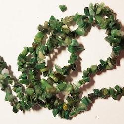 Ädelstenschips - Afrikansk Jade - Grön - 1 Sträng
