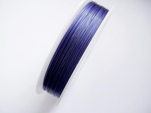 Plastad - Wire - 0,38mm - Sapphire blå - 2m