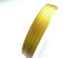 Plastad - Wire - 0,38mm - Guld - 2m