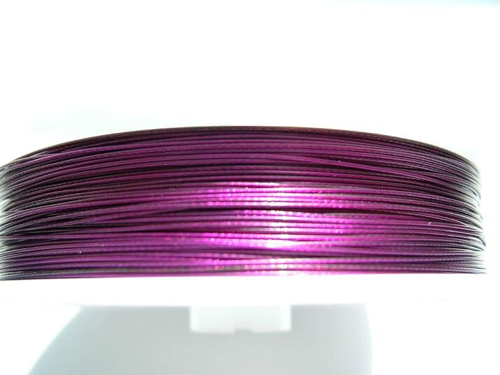 Plastad - Wire - 0,38mm - Lila - 2m
